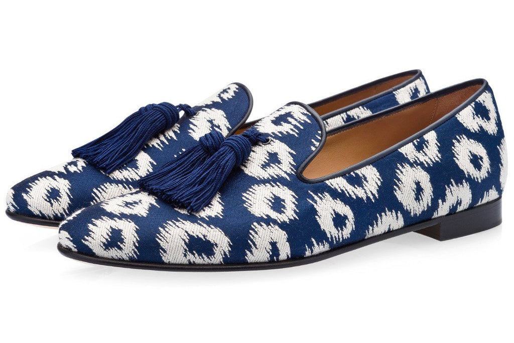 LOUIS RIVARENO NAVY SLIPPERS Slippers Superglamourous