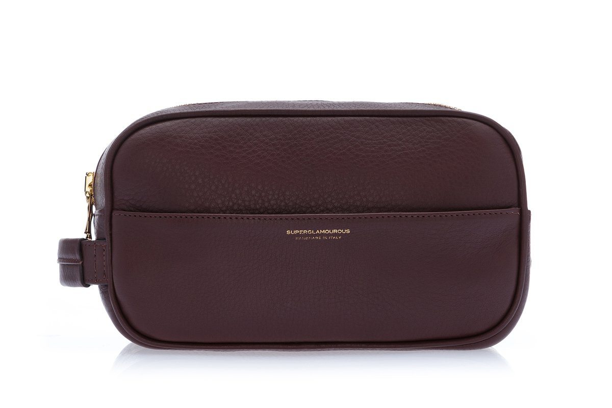 RONCADOR GRAIN BROWN TOILETRY Small Leather Goods Superglamourous