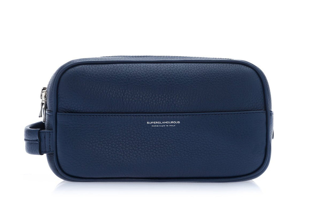 RONCADOR GRAIN NAVY TOILETRY Small Leather Goods Superglamourous