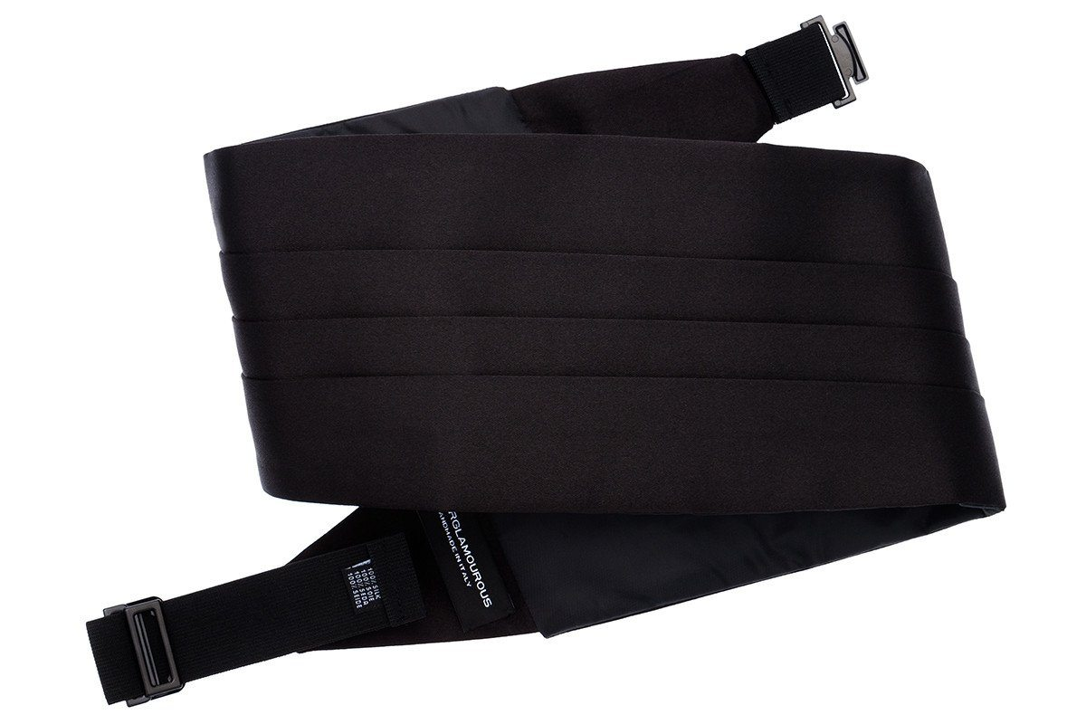 SMOKING SATIN BLACK CUMMERBUND