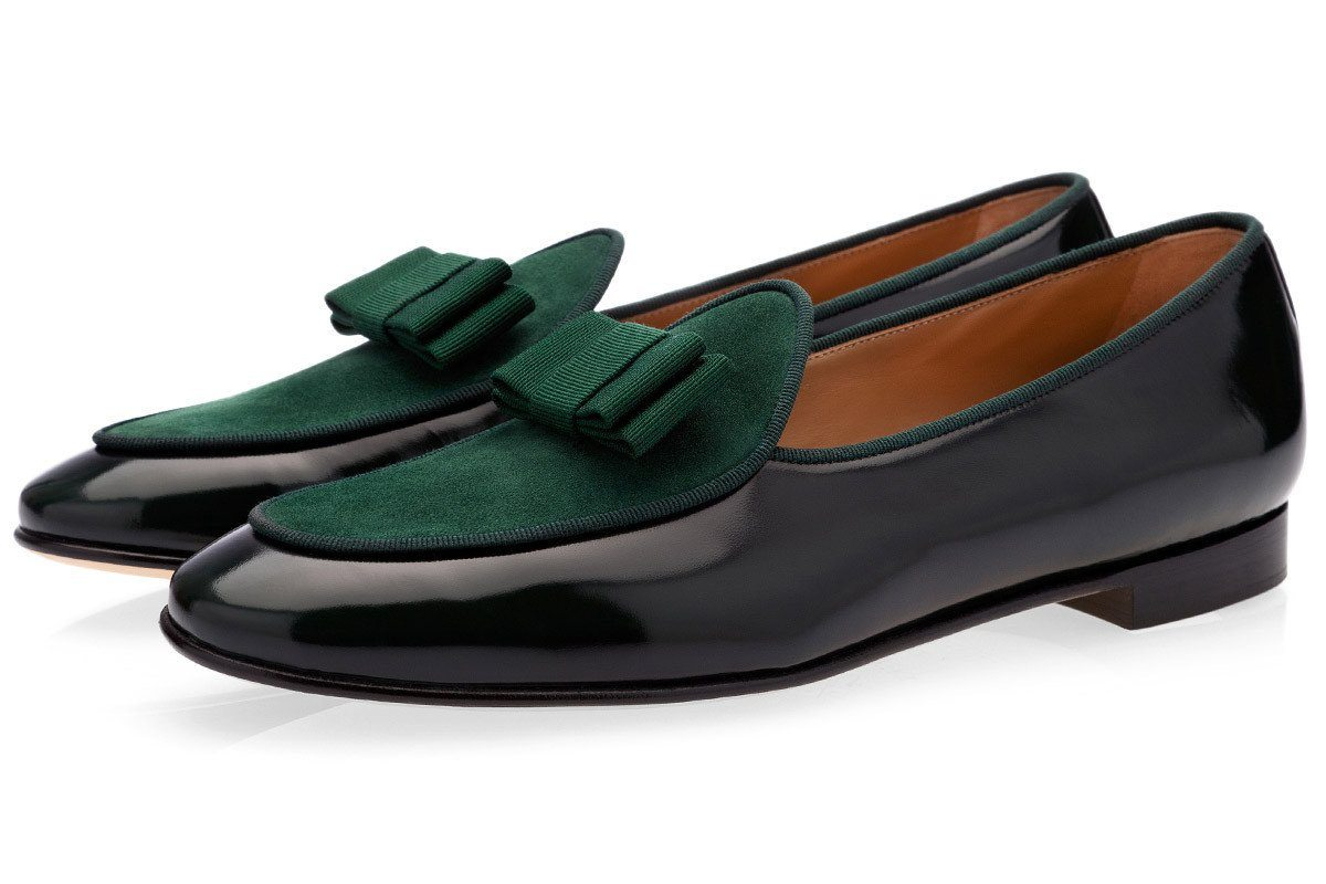 Green Belgian loafers mens