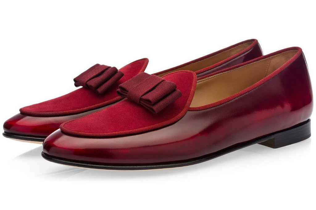 TANGERINE 3 BRUSHED BURGUNDY BELGIAN LOAFERS