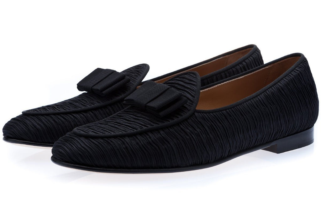 TANGERINE 3 INCRESPO BLACK BELGIAN LOAFERS