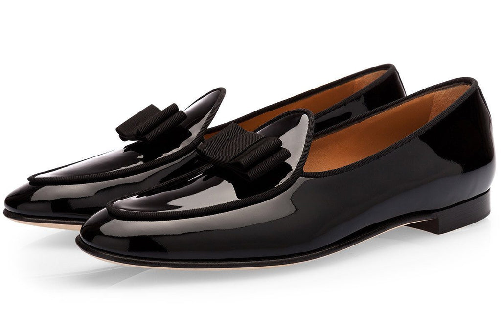 TANGERINE 3 PATENT BLACK BELGIAN LOAFERS