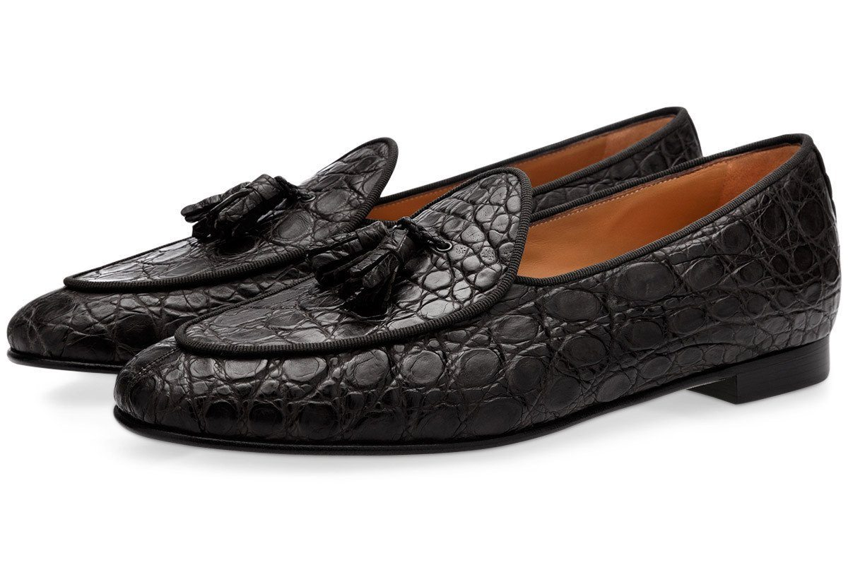 TANGERINE 2 MISSISSIPPI BLACK BELGIAN LOAFERS Belgian Loafers Superglamourous