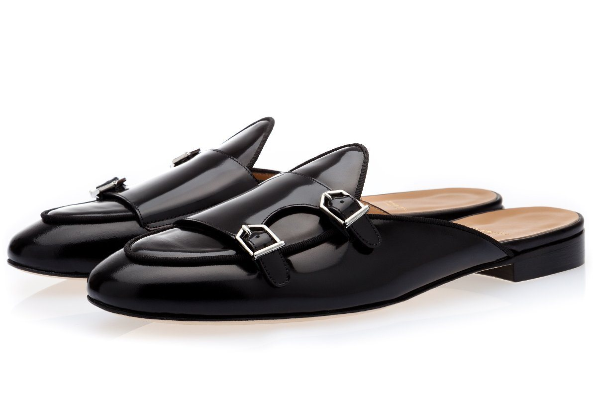 TANGERINE 7 BRUSHED BLACK MULES Mules Superglamourous