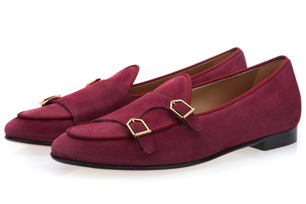 TANGERINE 7 SOFTY CHERRY BELGIAN LOAFERS