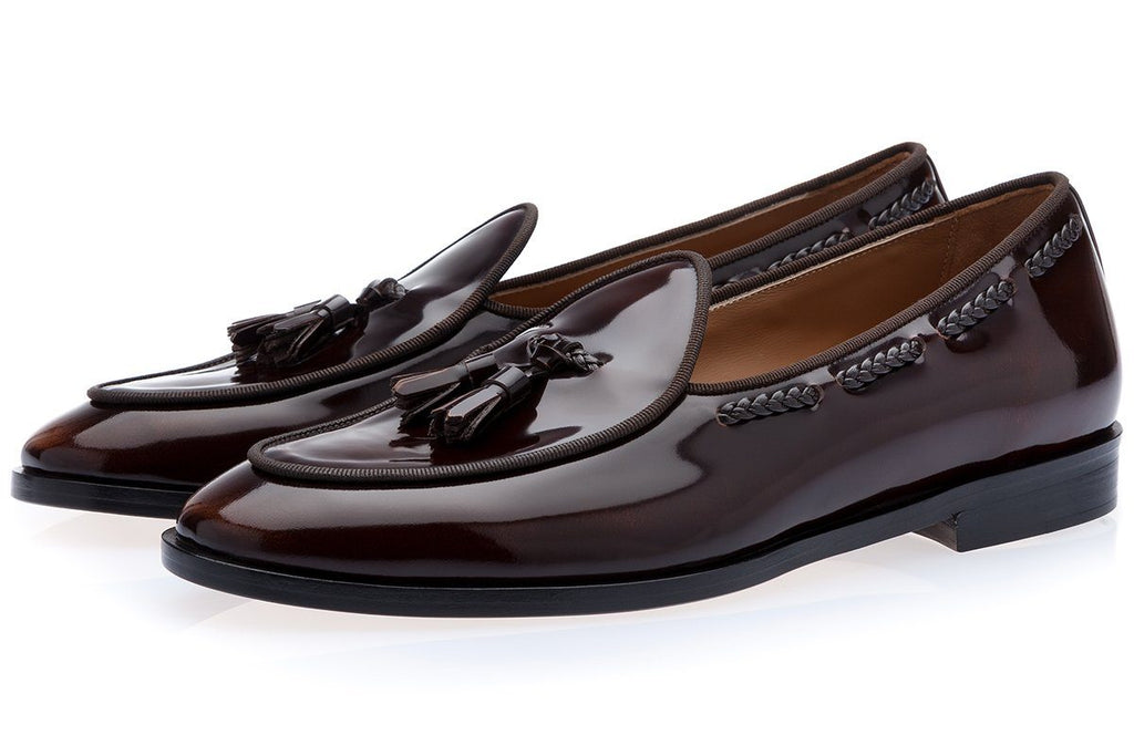 TANGERINE 8 BRUSHED COCOA BELGIAN LOAFERS