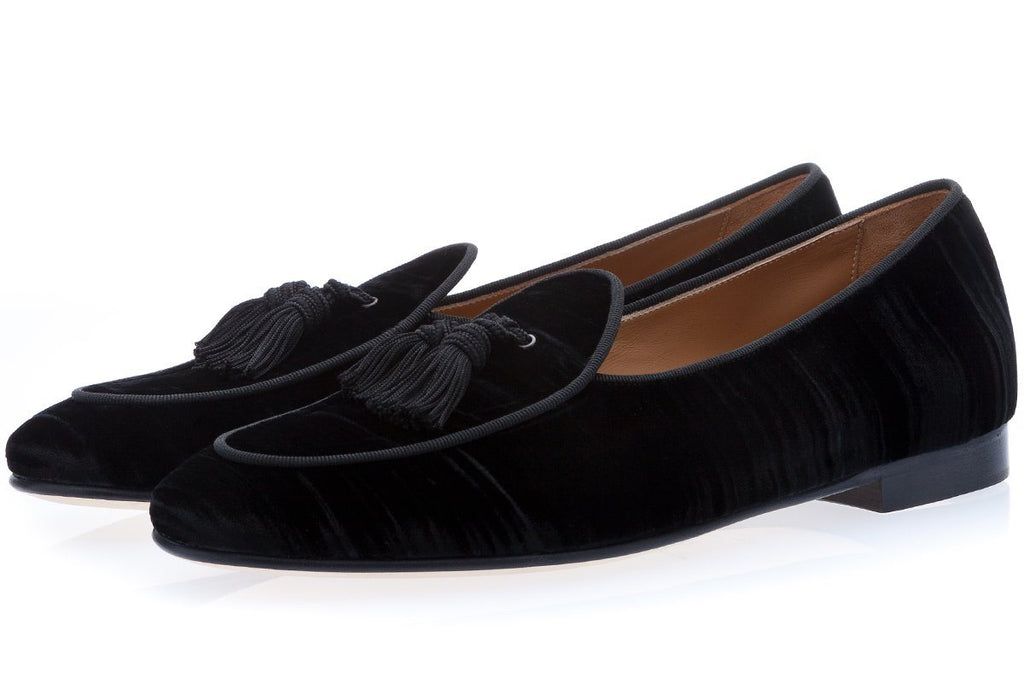 TANGERINE 4 WRINKLE BLACK BELGIAN LOAFERS Belgian Loafers Superglamourous
