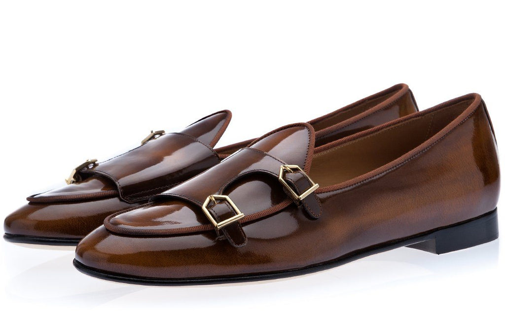 TANGERINE 7 BRUSHED COGNAC BELGIAN LOAFERS