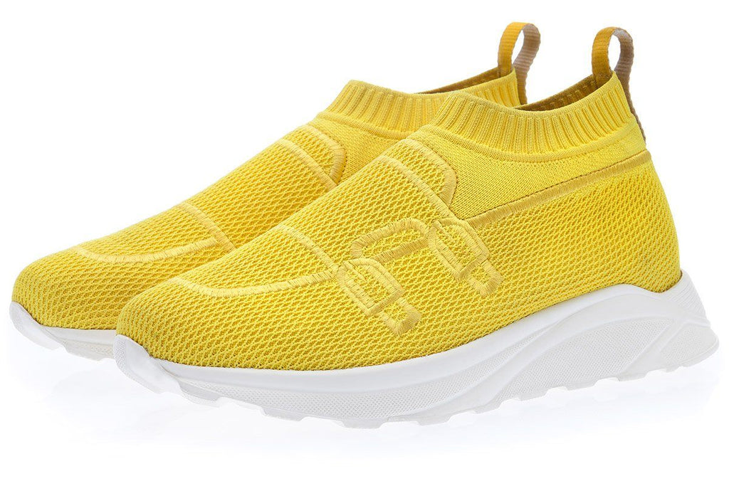 TANGERINE 7 STRETCH-KNIT YELLOW SOCK TRAINER