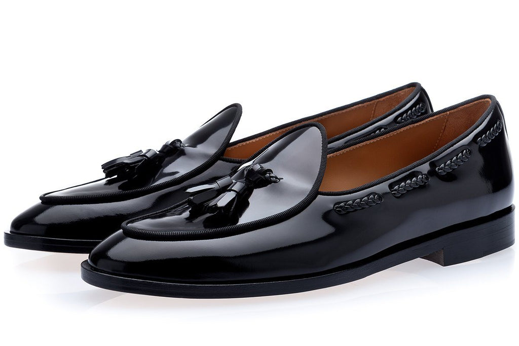 TANGERINE 8 BRUSHED BLACK BELGIAN LOAFERS
