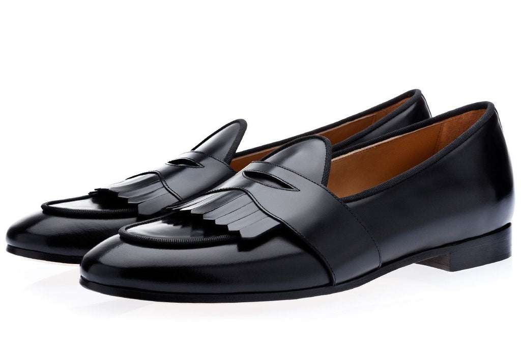 TANGERINE 10 CORDOVAN BLACK BELGIAN LOAFERS Belgian Loafers Superglamourous