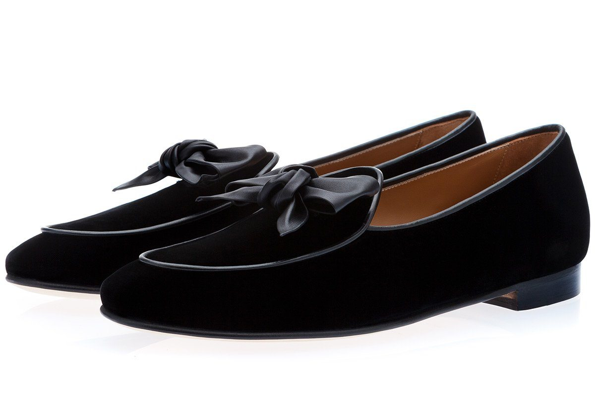 TANGERINE 3.1 VELOUR BLACK BELGIAN LOAFERS Belgian Loafers Superglamourous