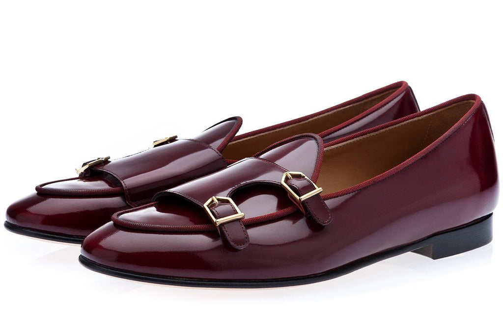 TANGERINE 7 BRUSHED BURGUNDY BELGIAN LOAFERS Belgian Loafers Superglamourous