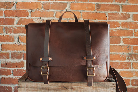 Bison Chromexcel Briefcase Messenger
