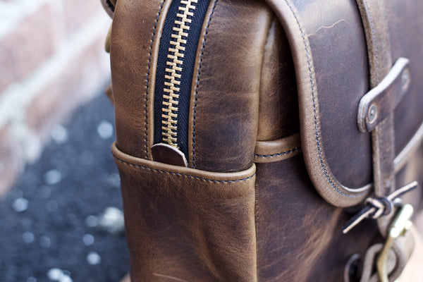 All Leather Field Bag in Brown Nut Dublin