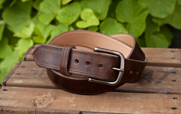 "1.5"" Brown Nut Dublin Everyday Belt"