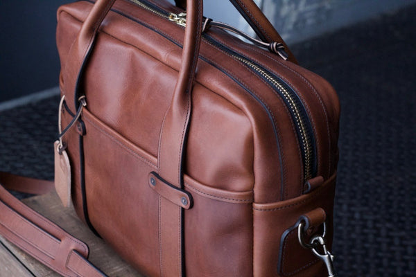 Whiskey Italian Leather Standard Briefcase