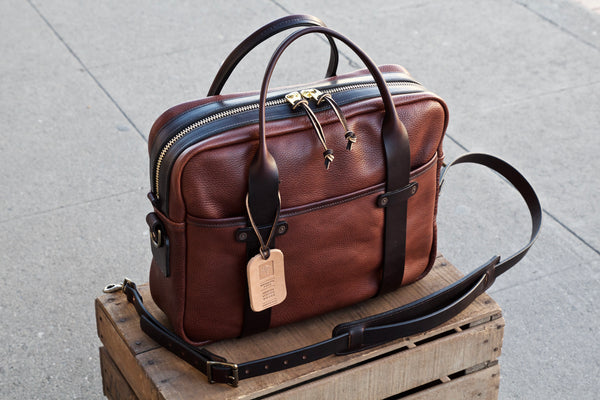Milled Harness Leather Briefcase