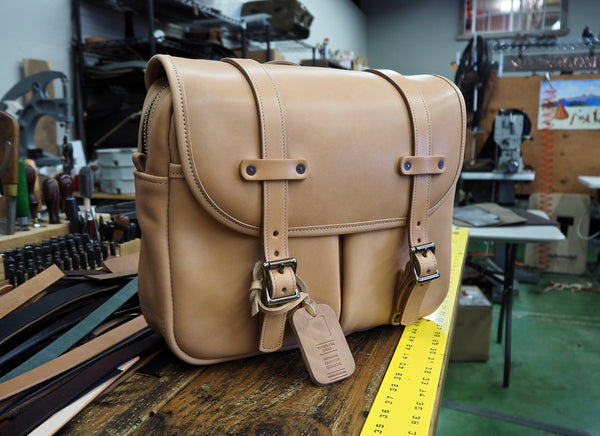 Full Leather Natural Essex Horween Field Bag