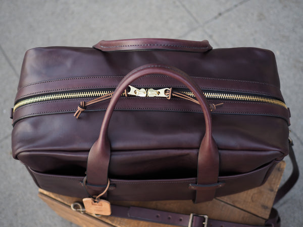 "Full Leather Dark Brown English Bridle 20"" Duffle"