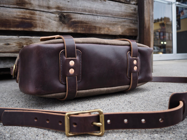 Brown Chromexcel/Ranger Tan Waxed Canvas Briefcase