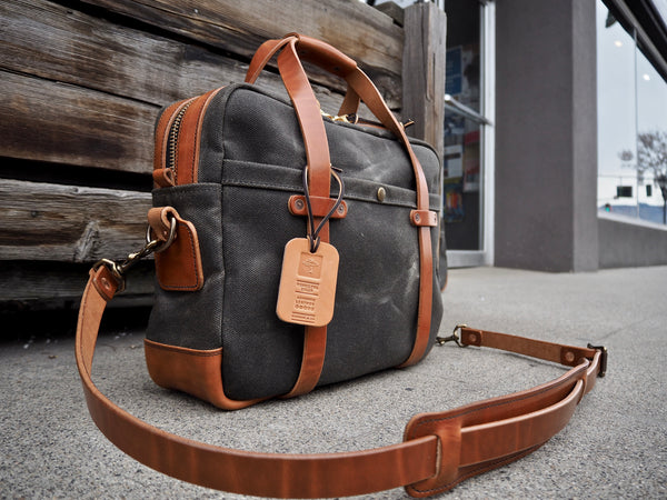 Briefcase in Heavy Olive/Buck Brown Harness