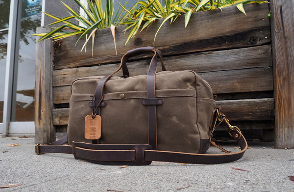 "20"" Weekender Duffle in Brown Chromexcel/ Ranger Tan Waxed Canvas"