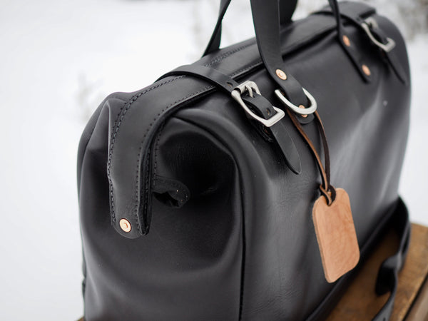 Horween Black Dublin Doctors Bag