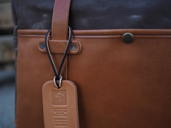 Hybrid Briefcase in Bourbon Olive Tanned/Ranger Tan Waxed Canvas