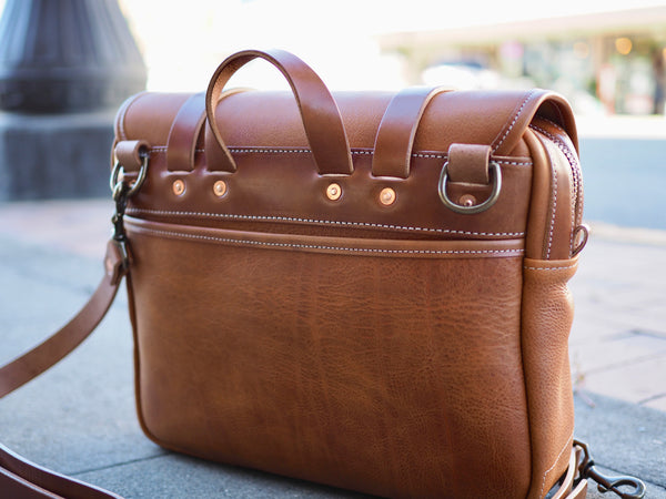 All Leather Field Bag in Milled Bourbon