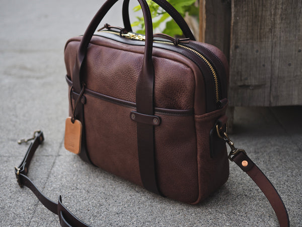 Milled Truffle/English Bridle Leather Briefcase