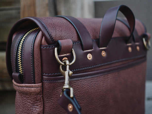 Milled Truffle/English Bridle Field Bag