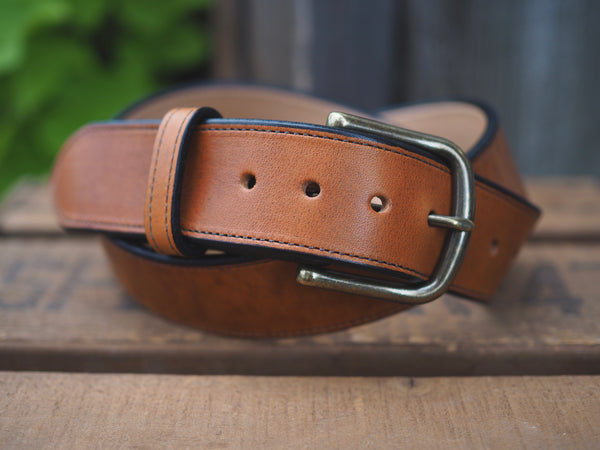 "1.5"" Horween English Tan Dublin Semi Dress Belt"