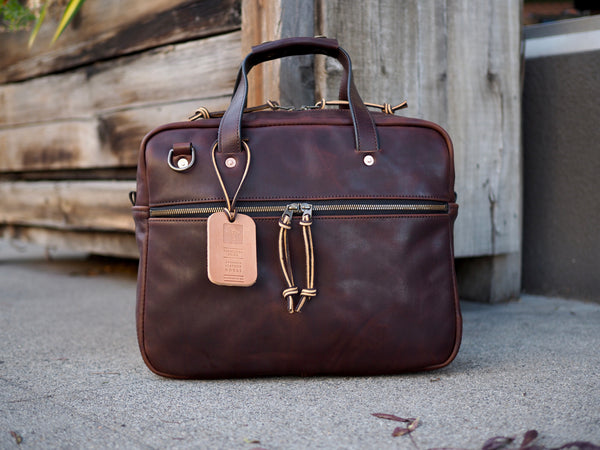 Executive Small Briefcase in Polo Brown Regency Calf