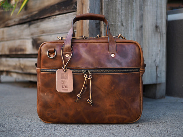 Executive Small Briefcase in Dark Snuff Regency Calf