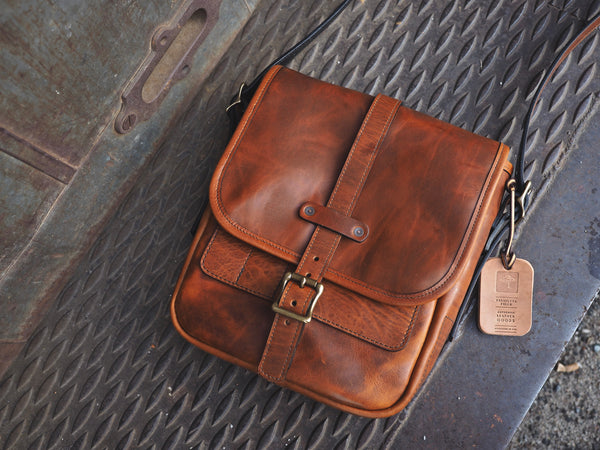 Standard Everyday Carry Satchel in Whiskey Regency Calf