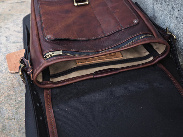 Standard Everyday Carry Satchel in Polo Brown Regency Calf