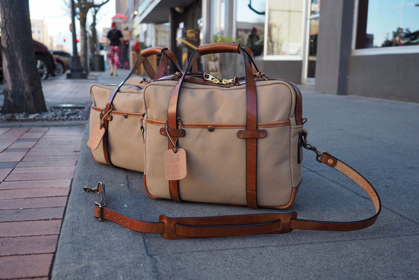 Standard Briefcase in Sand Canvas/Glazed Amber Harness