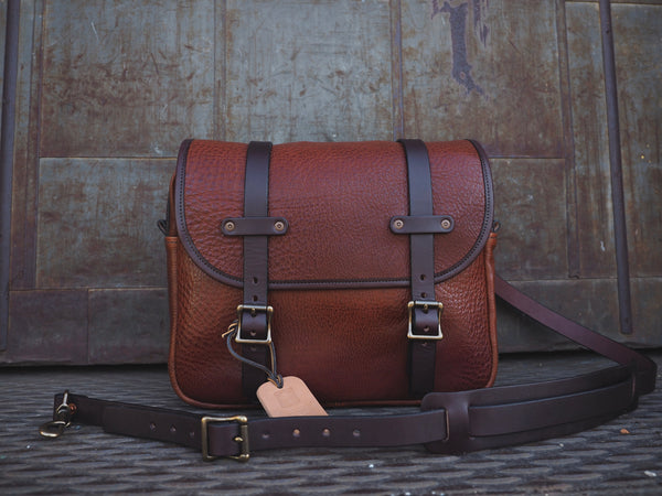 All Leather Field Bag in Milled Harness/English Bridle
