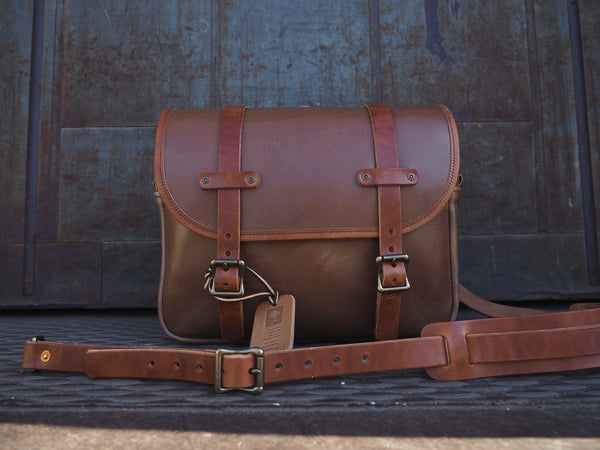 All Leather Field Bag in Horween Natural Horsehide