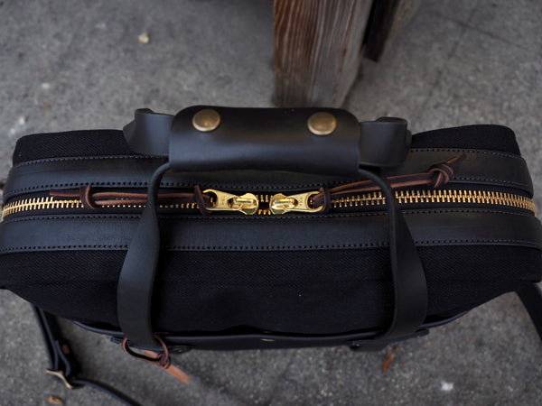 23oz Black Japanese Selvedge Lux Briefcase