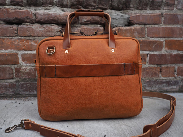 Executive Small Briefcase in Bourbon German Leather
