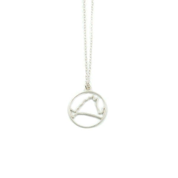 Martha's Vineyard Circle Outline Necklace