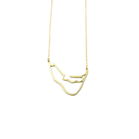 Nantucket XL Cut Out Island Swing Necklace