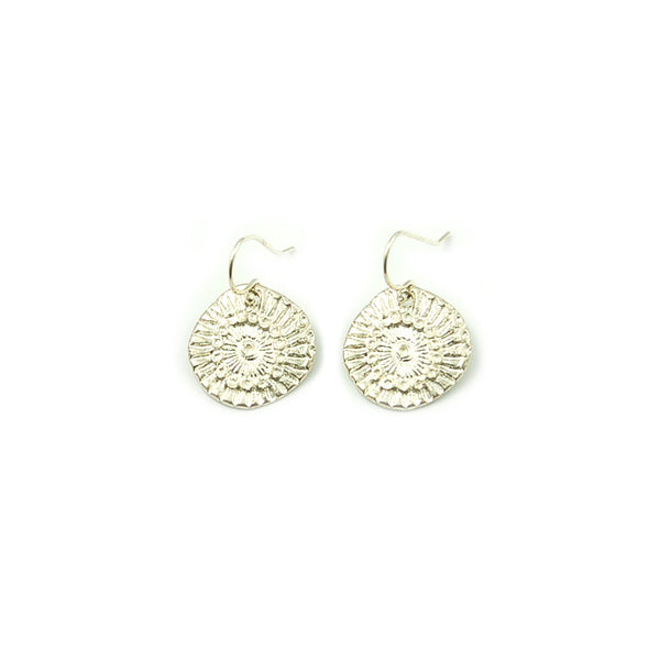 Medium Sunburst Impression Earrings