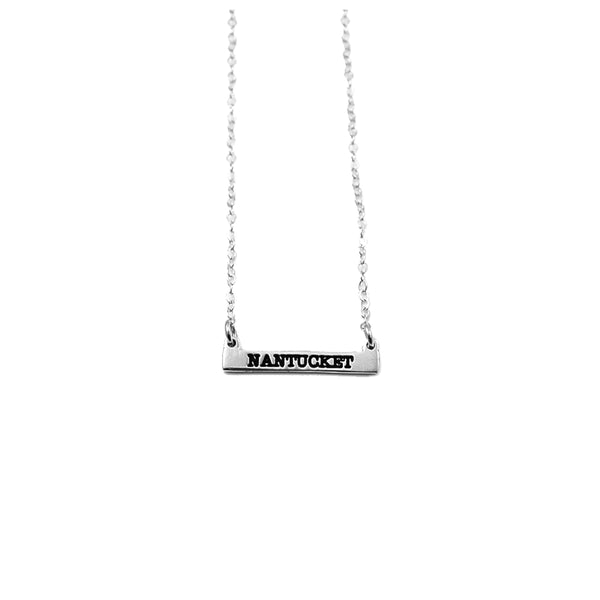 Micro Nantucket Bar Necklace