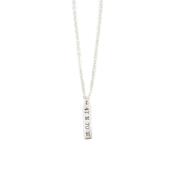 New Nantucket Coordinates Stick Necklace