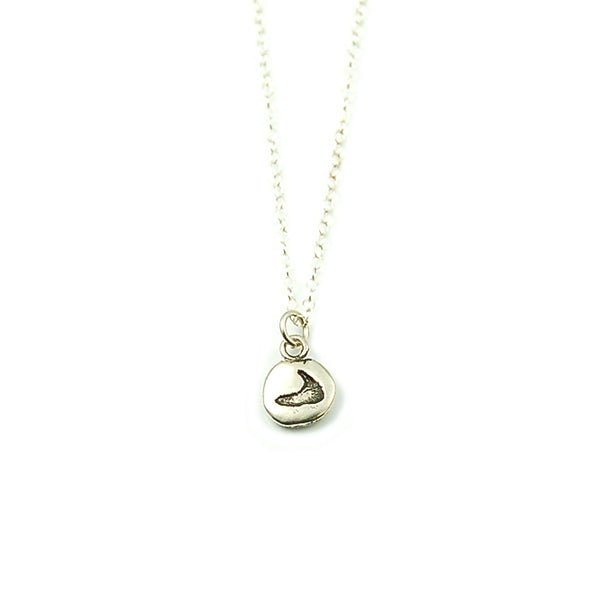 Nantucket Tiny Island Pebble Necklace